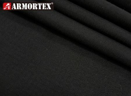 杜邦100% Nomex®格子紋梭織防火布 - NE-1492 黑色梭織防火布