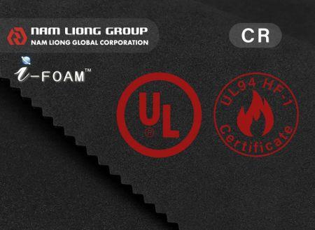 Espuma de borracha retardadora de chamas UL94 HF-1 - Espuma de borracha com certificação UL94 HF-1 retardadora de chamas.