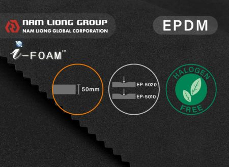 50mm thick EPDM Foam - 50mm EPDM Foam is suitable but not limited to oil pipe covering use.