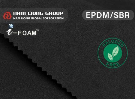 Espuma de Composto EPDM / SBR - EPDM / SBR Foam tem as vantagens de EPDM e SBR.