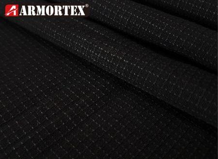 杜邦凱芙拉®混難燃壓克力紗防火布 - ACK-12330黑色格子紋阻燃布