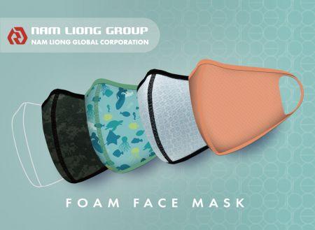 立體式海綿口罩產品 - 海綿口罩具有可水洗之特性,可依需求客製化款式。