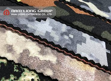 Printed Chloroprene Rubber Foam Laminate - Printed foam materials with different lookings.