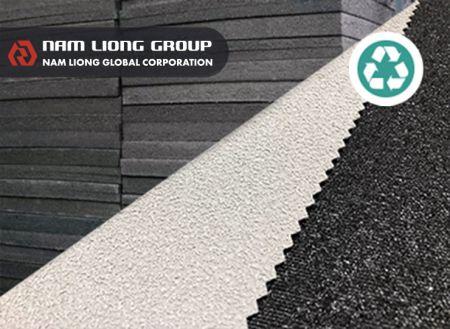 回收再生橡膠海綿 - 海綿廢料製成之產品,不僅可以滅少廢棄物,亦可產生出再次被利用之價值。
