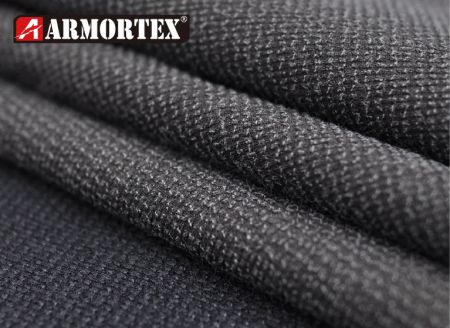 Kevlar Nylon Coated Stretch Abrasion Resistant Fabric - Kevlar blended stretch abrasion resistant fabric with coating.