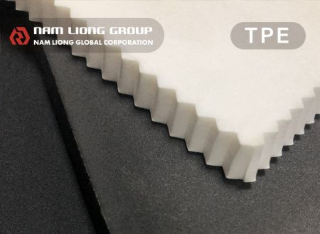 TPE Foam - Closed-cell Thermalplastic Elastomer (TPE) foam with the characteristic of light-weight, water proof, windproof, dustproof and air tight.