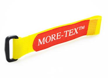 A tira de velcro pode ser feita sob medida para uma determinada largura, comprimento e cor.