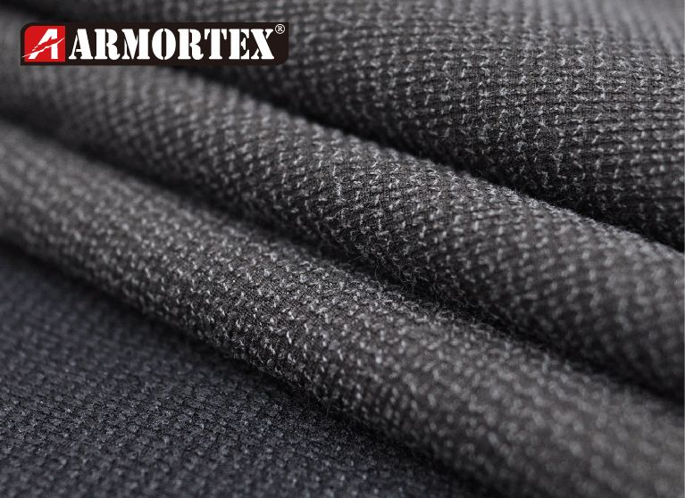 Kevlar blended stretch abrasion resistant fabric with coating.