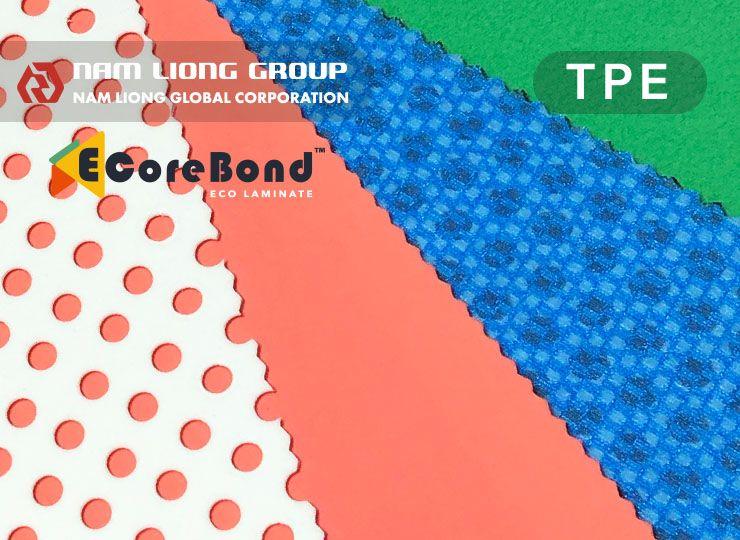 TPE熱可塑性發泡貼合品具有質輕、防水、防風、防砂及氣密性佳等特性。