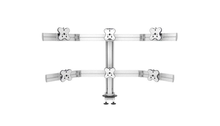Six Monitor Arms