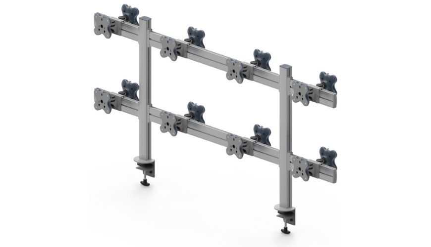 Sixteen Monitor Arms