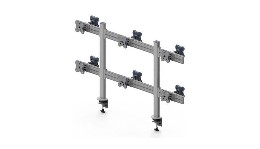 Twelve Monitor Arms
