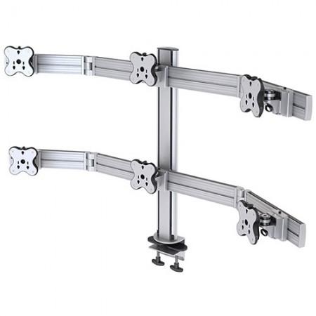 ستة ذراع مراقب - المشبك أو تركيب جروميت - ستة أذرع للشاشات EGAR-8026W / 8026WG