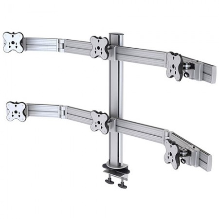 Six Monitor Arm - Clamp or Grommet Mount