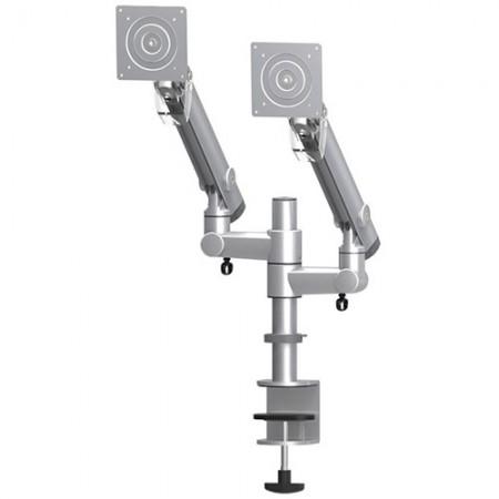 Dual Compact Monitor Arm - Column Clamp or Grommet Mount - Dual Monitor Arm EGDC-202D / 302D