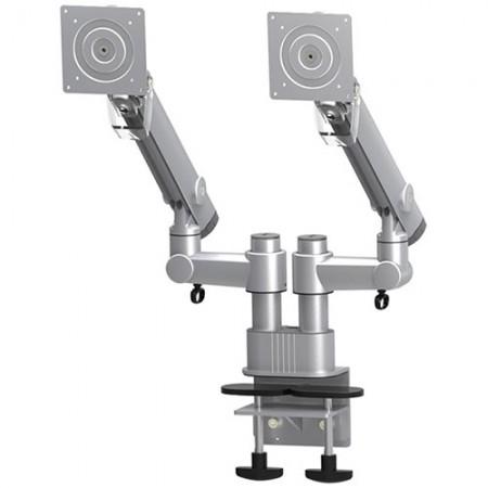 डुअल मॉनिटर आर्म - कॉलम क्लैंप या ग्रोमेट माउंट - डुअल मॉनिटर आर्म EGDF-202D / 302D