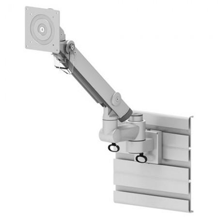 Single Monitor Arm - Slat Wall Mount for Heavy Duty