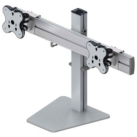Dual Monitor Arm - Free Standing Type with 1 Layer - Dual Monitor Arm EGFS-4520