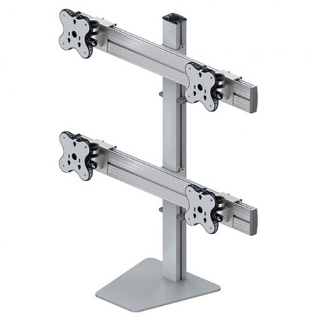 Four Monitor Arm - Free Standing Type with 2 Layer