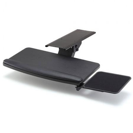 छोटे प्रकार और स्क्वायर माउस ट्रे के साथ कीबोर्ड ट्रे