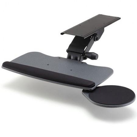 ビッグタイプと丸型マウストレイを備えたキーボードトレイ