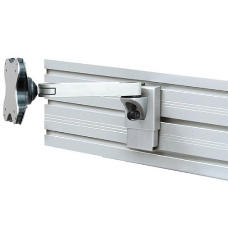 Single Monitor Arm - Slat Wall Mount
