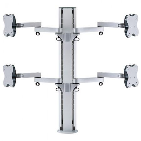 चार मॉनिटर आर्म - क्लैंप या ग्रोमेट माउंट - चार मॉनिटर आर्म्स ईजीएल-८०२४/८०२४जी