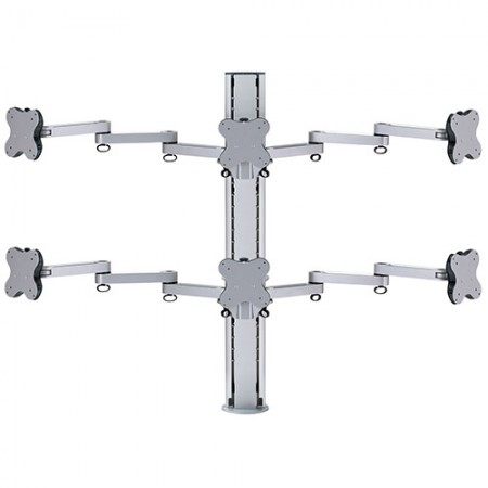 Six Monitor Arm - Clamp or Grommet Mount - Six Monitor Arms EGL-8036 / 8036G
