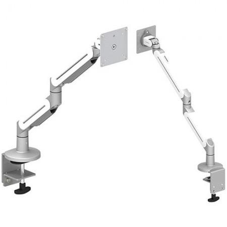 Bras de moniteur simple - Fixation à pince ou à œillet pour travaux légers - Bras pour écran simple EGNA-202 / 302