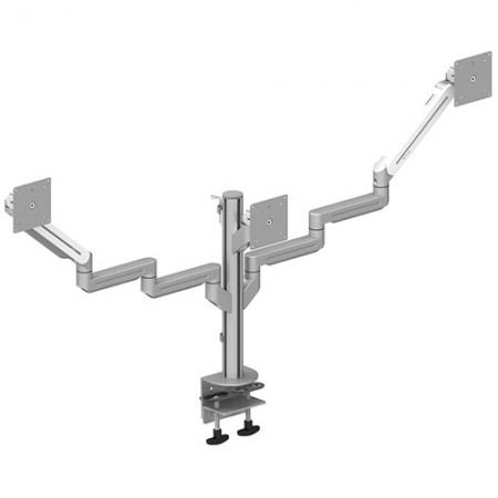 トリプルモニターアーム-軽量用のクランプまたはグロメットマウント - トリプルモニターアームEGNA-203T / 303T