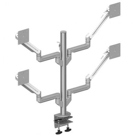 4つのモニターアーム-軽量用のクランプまたはグロメットマウント