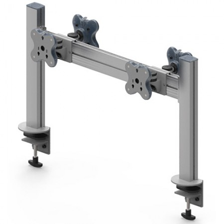 Four Monitor Arm - Clamp or Grommet Mount