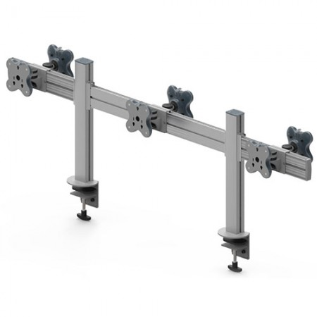 6台のモニターアーム-クランプまたはグロメットマウント - 6つのモニターアームEGTB-4513D / 4513DG