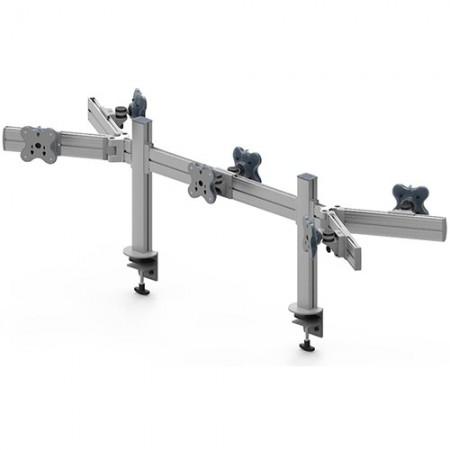 6つのモニターアーム-クランプまたはグロメットマウントと調整可能な側面 - 6つのモニターアームEGTB-4513DW / 4513DWG
