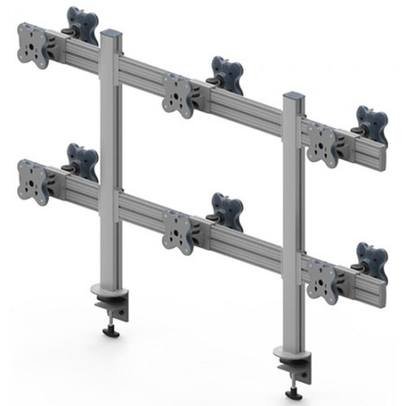 Tool Bar Back to Back System (EGTB) - Twelve Monitor Arms EGTB-8026D / 8026DG