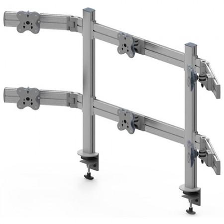 ستة ذراع مراقب - المشبك أو تركيب جروميت - ستة أذرع للشاشات EGTB-8026W / 8026WG