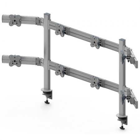 Tool Bar System (EGTB) - Eight Monitor Arms EGTB-8028W / 8028WG