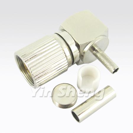 1.6/5.6 Plug Crimp Raight Angle for ST212 Cable - 1.6/5.6 Plug Crimp Raight Angle for ST212 Cable