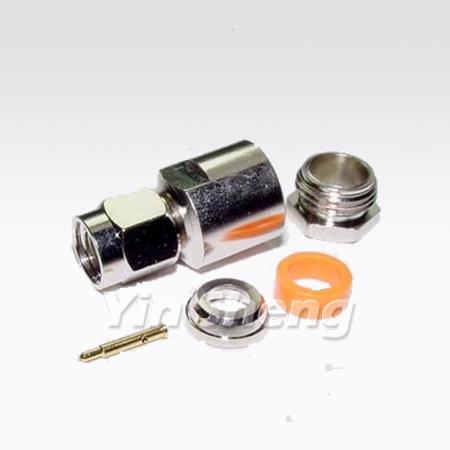 SMA Plug Clamp Straight for RG58U - SMA Plug Clamp Straight for RG58U