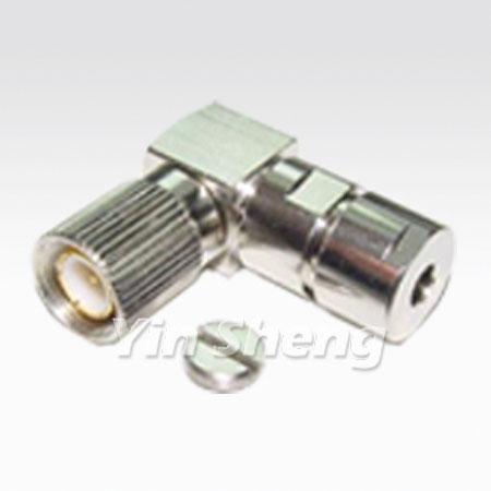 1.6/5.6 Plug Clamp Right Angle, 75ohm - 1.6/5.6 Plug Clamp Right Angle, 75ohm