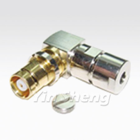 1.6/5.6 Jack Clamp Right Angle, 75ohm - 1.6/5.6 Jack Clamp Right Angle, 75ohm