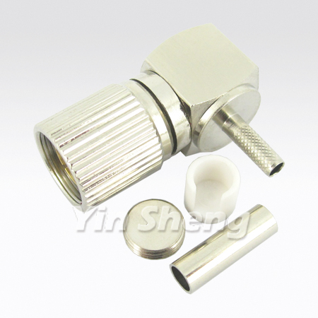 1.6/5.6 Plug Crimp Raight Angle for ST212 Cable - 1.6/5.6 Plug Crimp Raight Angle for ST212 Cable