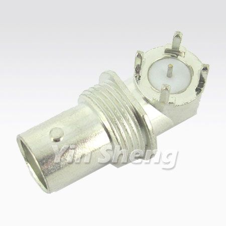 BNC Connector for PCB Mount - BNC Jack Right Angle PCB Monut,75ohm