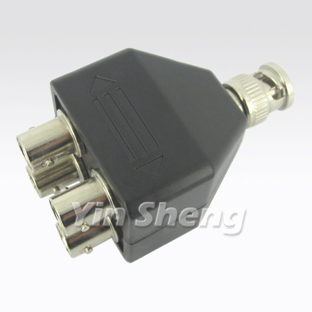 BNC One Plug to Four Jack Adapter, 2X2 Model
