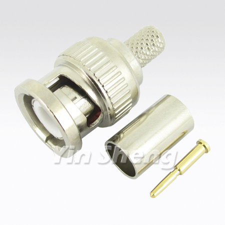 BNC Connector for Cables - BNC Plug Crimp (3 PCS)