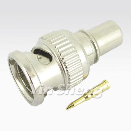 BNC Plug Crimp, Attached ring (Molded)