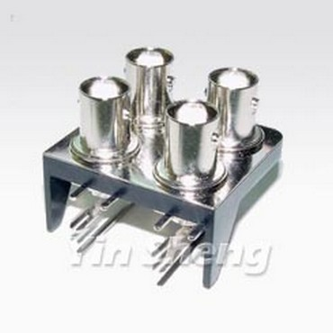 BNC Jack Right Angle Panel Mount(Four BNC Jack in Two Rows)