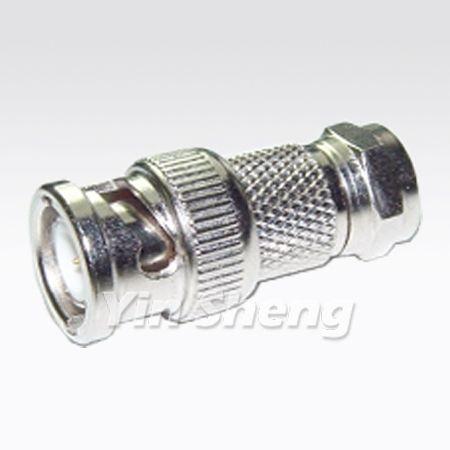 BNC Plug To F Plug Adapter - BNC Plug To F Plug Adapter