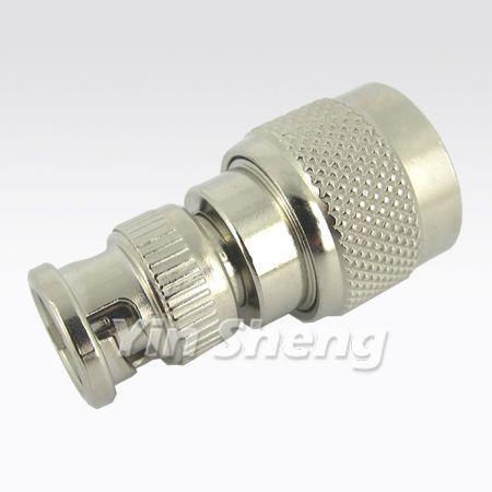 BNC Plug To N Plug Adapter, 50 ohm - BNC Plug To N Plug Adapter, 50 ohm