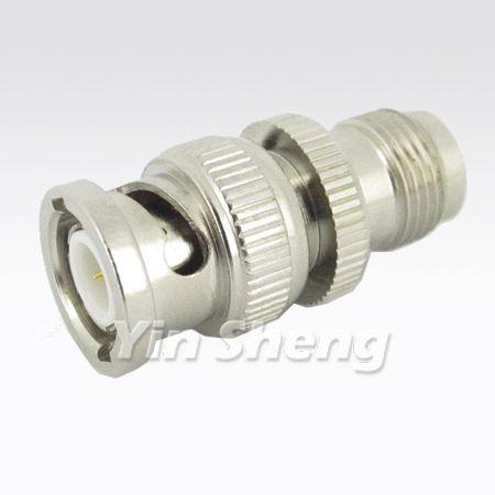 BNC Plug To TNC Jack Adapter, 50 ohm - BNC Plug To TNC Jack Adapter, 50 ohm